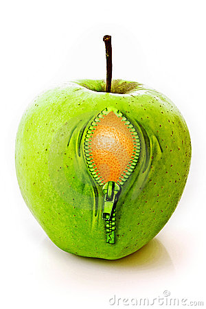 Apple with  zipper