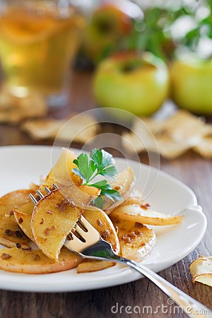 Apples with anchovies