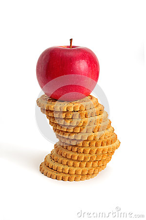 Apples and biscuit