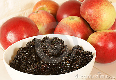 Apples and blackberries
