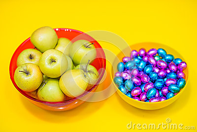 Apples and candy