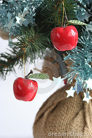 Apples on a christmas tree