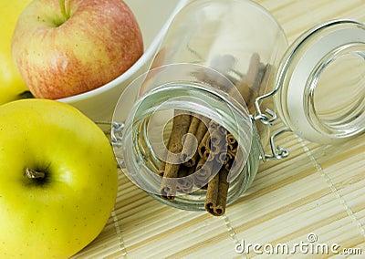 Apples and cinamon