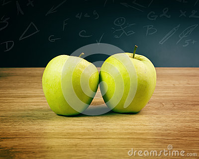 Apples in classroom