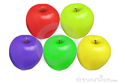 Apples color isolated
