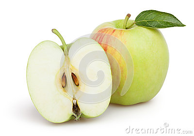 Apples cut leaf