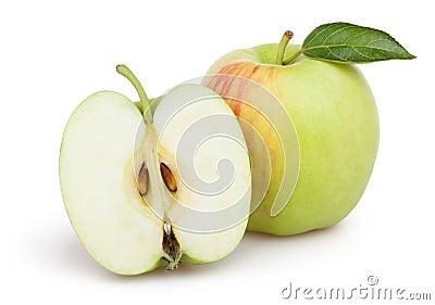 Apples cut leaf
