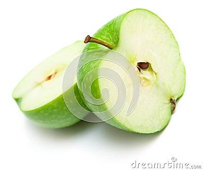 Apples cut on a part 5