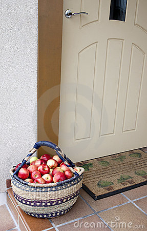 Apples at doorway