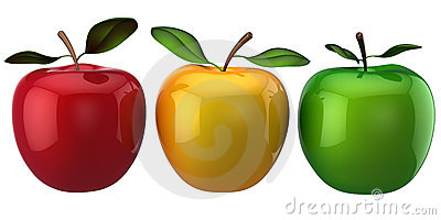 Apples. Individuality concept. (Hi-Res)