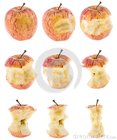 Apples isolated on white background