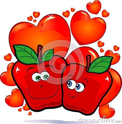 Apples in love