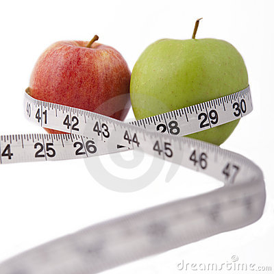 Apples and measuring tape - health.