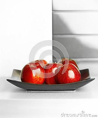 Free Apples On White Kitchen S Table Stock Photos - 6092023