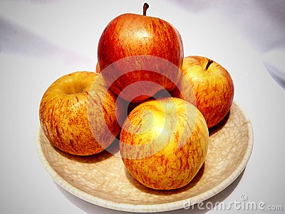 Apples in plate Editorial Photo