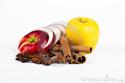 Apples with spices