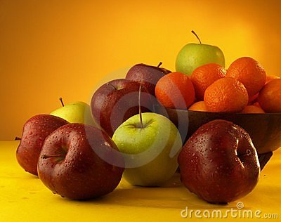 Apples and tangerines yummy