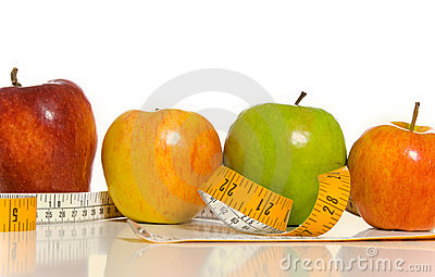 Apples and a tape measure