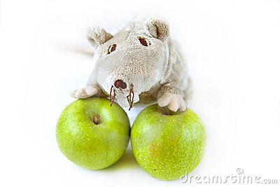 Apples with toy