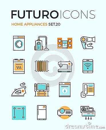 Free Appliances Futuro Line Icons Stock Image - 53565901