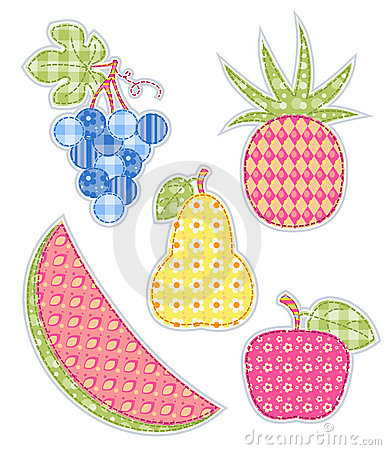 Application fruits set.