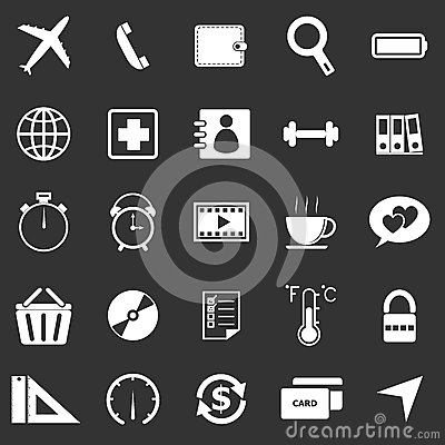 Application icons on black background. Set 2
