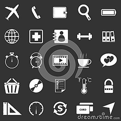 Application icons on black background. Set 2