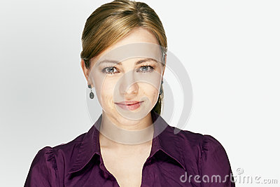 Application portrait of a young business woman