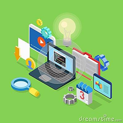 Software Development Infographics Stock Vector - Image: 41989998