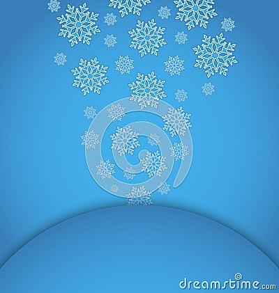 Applique di natale con i fiocchi di neve dell insieme