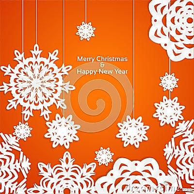 Applique snowflake Christmas banner