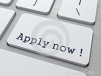 Apply Now Button on Modern Computer Keyboard.