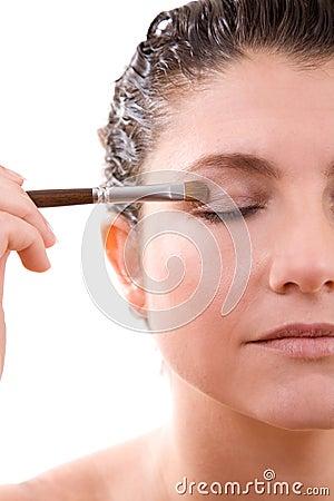 Free Applying Eyeshadow Stock Photo - 2509380