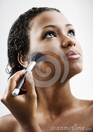 Free Applying Makeup Royalty Free Stock Photos - 4395198