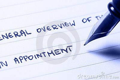 An appointment