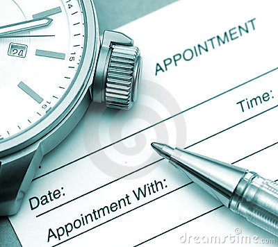 Free Appointment Time Royalty Free Stock Photos - 118238