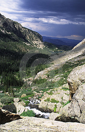 Approaching storm in Colorado Rocky mountains