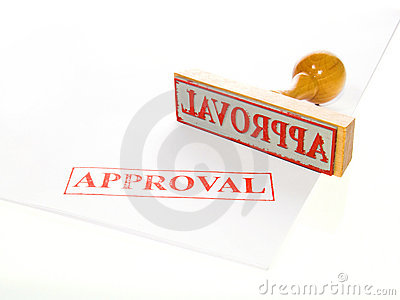 APPROVAL Rubber stamp