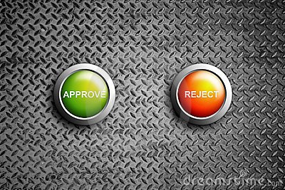Approve and reject button