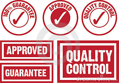 Approved, guarantee and quality control symbol