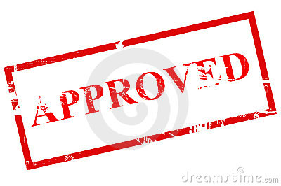 Approved Stamp Stock Photography