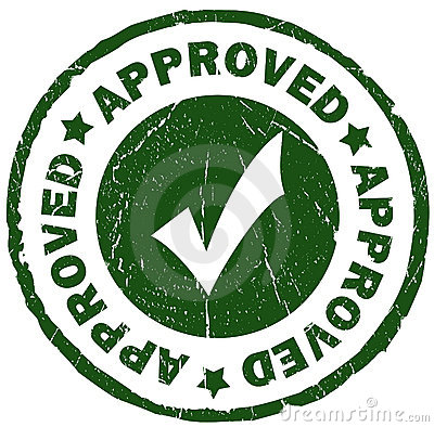 Approved Stamp Stock Image - Image: 15889461