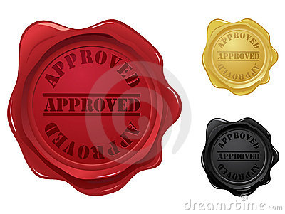 Approved wax seal stamps