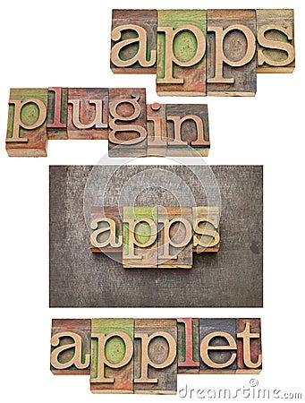 Apps (applications), plug in, applet