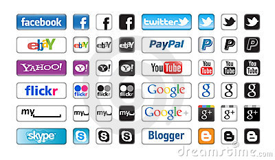 Apps Buttons for Social Networking Editorial Image