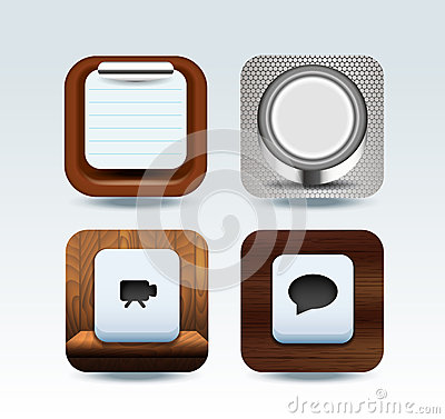 Apps icon set  illustration