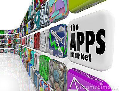 The Apps Market Wall Application Software Icons