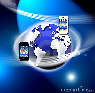 Apps on a secure mobile wireless network Editorial Photography