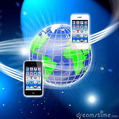 Apps on a secure mobile wireless network Editorial Photo
