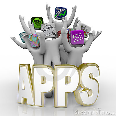 Apps - Word and People Cheering
